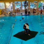 Piraten im Schwimmbad Leck